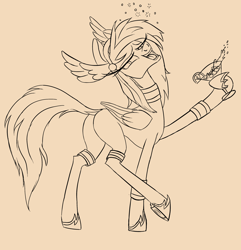 Size: 2454x2544 | Tagged: artist needed, safe, pegasus, alcohol, butt, drunk, female, guardians of pondonia, mare, margarita, plot, solo