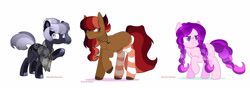 Size: 1280x449 | Tagged: safe, artist:glorymoon, oc, oc only, earth pony, pony, braid, clothes, female, mare, simple background, socks, striped socks, white background