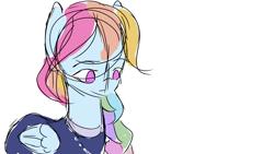 Size: 1920x1080 | Tagged: safe, artist:snowzaaah, rainbow dash, pegasus, pony, alternate hairstyle, solo