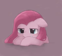 Size: 2048x1830 | Tagged: safe, artist:arrow__root, pinkie pie, earth pony, pony, crying, floppy ears, pinkamena diane pie, sad, simple background, solo