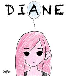 Size: 2626x2895   Tagged: safe, artist:datzigga, pinkie pie, human, blank stare, crossover, humanized, omori, pinkamena diane pie, solo