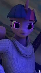 Size: 1080x1920   Tagged: safe, artist:xxsfmartxx, twilight sparkle, alicorn, anthro, 3d, clothes, source filmmaker, sweater, twilight sparkle (alicorn)