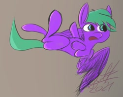 Size: 1000x789 | Tagged: safe, artist:gift19921, oc, oc:nighthook, pegasus, doodle, flying