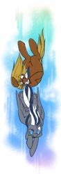 Size: 700x2000 | Tagged: safe, artist:flutterbree, oc, oc:6pony66, oc:flutterbree, earth pony, pegasus, pony, biting, diving, race swap, tail bite