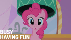Size: 1280x720 | Tagged: safe, edit, edited screencap, editor:quoterific, screencap, pinkie pie, earth pony, pony, season 1, the best night ever, :o, cute, diapinkes, female, looking at you, mare, mirror, open mouth, solo