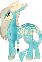Size: 631x944 | Tagged: safe, artist:velnyx, oc, oc:serene shores, earth pony, pony, augmented tail, female, mare, simple background, solo, transparent background