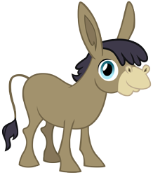 Size: 5871x6737 | Tagged: safe, artist:andoanimalia, cranky doodle donkey, a friend in deed, simple background, transparent background, vector
