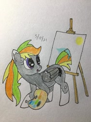 Size: 406x541 | Tagged: safe, artist:carty, oc, oc:odd inks, pegasus, traditional art