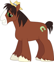 Size: 1506x1744 | Tagged: safe, artist:rekibob, trouble shoes, pony, simple background, smiling, solo, transparent background, vector