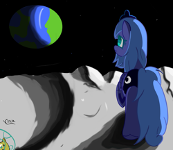 Size: 2329x2011 | Tagged: safe, artist:vinca, princess luna, alicorn, pony, moon, solo, wings