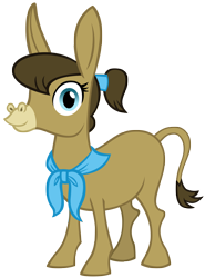Size: 4859x6567 | Tagged: safe, artist:andoanimalia, matilda, donkey, a friend in deed, absurd resolution, female, looking at you, simple background, smiling, solo, transparent background, vector