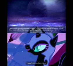 Size: 1600x1440 | Tagged: safe, nightmare moon, alicorn, pony, friendship is magic, season 1, destiny (game), female, mare, meme