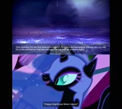 Size: 1600x1440   Tagged: safe, nightmare moon, alicorn, pony, friendship is magic, season 1, destiny (game), female, mare, meme