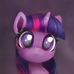 Size: 1024x1024 | Tagged: safe, artist:catachromatic, artist:thisponydoesnotexist, twilight sparkle, pony, unicorn, big eyes, cute, female, filly, filly twilight sparkle, neural network, overpaint, solo, twiabetes, younger