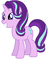 Size: 7000x8600 | Tagged: safe, artist:tardifice, starlight glimmer, pony, unicorn, the mean 6, absurd resolution, cute, cutie mark, female, glimmerbetes, grin, happy, mare, simple background, smiling, solo, transparent background, vector