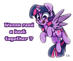 Size: 1983x1664   Tagged: safe, artist:lou, twilight sparkle, alicorn, pony, book, bronybait, female, mare, simple background, solo, that pony sure does love books, twilight sparkle (alicorn), white background