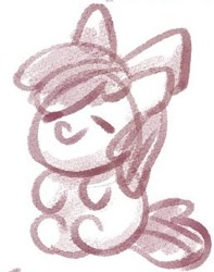 Size: 259x328 | Tagged: safe, artist:sugar morning, apple bloom, female, filly, sketch, solo