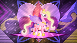 Size: 3840x2160   Tagged: safe, artist:laszlvfx, artist:negatif22, edit, princess cadance, pony, raised hoof, solo, wallpaper, wallpaper edit