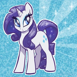 Size: 2048x2048   Tagged: safe, artist:pfeffaroo, part of a set, rarity, pony, unicorn, abstract background, female, glitter, high res, looking sideways, mare, outline, solo, sparkles, standing, three quarter view, white outline