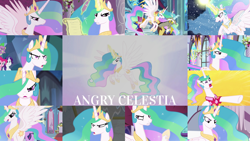 Size: 1280x721 | Tagged: safe, edit, edited screencap, editor:quoterific, screencap, discord, pinkie pie, princess celestia, princess luna, rarity, spike, twilight sparkle, alicorn, draconequus, dragon, earth pony, pony, unicorn, a canterlot wedding, a royal problem, between dark and dawn, horse play, lesson zero, princess twilight sparkle (episode), season 2, season 3, season 4, season 5, season 8, season 9, the beginning of the end, the crystal empire, the crystalling, the cutie re-mark, the ending of the end, the return of harmony, twilight's kingdom, celestia is not amused, female, glowing horn, horn, magic, magic aura, male, open mouth, raised hoof, snow, spike is not amused, teeth, twilight sparkle (alicorn), unamused, unicorn twilight, winged spike, wings, worried
