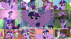 Size: 1280x719   Tagged: safe, edit, edited screencap, editor:quoterific, screencap, twilight sparkle, alicorn, pony, unicorn, a health of information, a royal problem, castle mane-ia, look before you sleep, no second prances, one bad apple, princess spike (episode), season 1, season 4, season 5, season 6, season 8, surf and/or turf, sweet and elite, the times they are a changeling, three's a crowd, top bolt, twilight's kingdom, yakity-sax, spoiler:s08, book, book nest, chef's hat, cute, eye shimmer, female, floppy ears, glowing horn, golden oaks library, hat, horn, magic, magic aura, messy mane, reading, sleeping, sleepy, solo, starry eyes, twiabetes, twilight sparkle (alicorn), twilight's castle, unicorn twilight, wingding eyes
