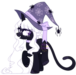 Size: 1280x1253   Tagged: safe, artist:m-00nlight, oc, pony, unicorn, female, hat, mare, simple background, solo, transparent background, witch hat