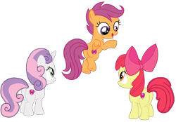 Size: 2764x1922 | Tagged: safe, artist:gmaplay, apple bloom, scootaloo, sweetie belle, earth pony, pegasus, pony, unicorn, bloom butt, booty mark crusaders, butt, cutie mark, cutie mark crusaders, flying, plot, scootabutt, scootaloo can fly, simple background, sweetie butt, the cmc's cutie marks, transparent background