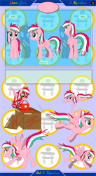 Size: 6751x12301 | Tagged: safe, artist:kyoshyu, oc, oc:shuri cane, pegasus, pony, absurd resolution, butt, clothes, crate, female, first aid kit, flight suit, mare, mouth hold, plot, reference sheet, solo
