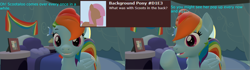 Size: 3840x1080 | Tagged: safe, artist:sexy rd, rainbow dash, pegasus, pony, series:ask sexy rainbow dash, 3d, alternate universe, ask, butt, comic, female, happy, high res, large butt, mare, plot, rainbow dash's bedroom, rainbow dash's house, rainbutt dash, revamped ponies, room, solo, source filmmaker