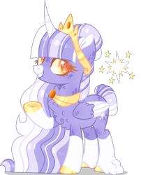 Size: 2006x2480 | Tagged: safe, artist:lilywolfpie-yt, twilight sparkle, alicorn, pony, alternate design, simple background, solo, transparent background, twilight sparkle (alicorn), two toned wings, wings