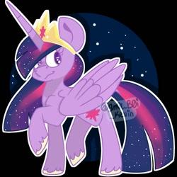 Size: 1000x1000 | Tagged: safe, artist:sm0lb0ikevin, twilight sparkle, alicorn, pony, the last problem, crown, female, jewelry, mare, older, older twilight, princess twilight 2.0, regalia, solo, twilight sparkle (alicorn)