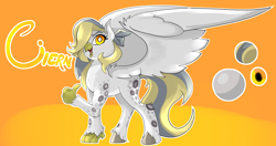 Size: 2048x1080 | Tagged: safe, artist:gab0o0, oc, oc:ciern, classical hippogriff, hippogriff, commission, solo