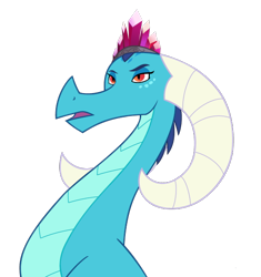 Size: 562x598 | Tagged: safe, artist:queencold, princess ember, dragon, dragon lord ember, dragoness, female, older, simple background, solo, transparent background