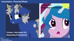 Size: 1440x803 | Tagged: safe, artist:indonesiarailroadpht, izzy moonbow, oc, g5, advertisement, commission info