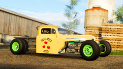 Size: 1920x1080 | Tagged: safe, artist:populuxe, screencap, applejack, car, ford, forza horizon 4, hot rod