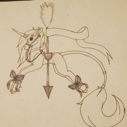 Size: 780x780 | Tagged: safe, artist:roeswolfcreations, oc, oc only, unicorn, horn, lineart, traditional art, unicorn oc