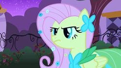 Size: 1920x1080   Tagged: safe, screencap, fluttershy, pegasus, pony, season 1, the best night ever, angry, clothes, dress, female, gala dress, mare, serious
