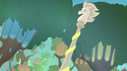 Size: 1280x720   Tagged: safe, screencap, surf and/or turf, background, flagpole, mount aris, no pony, scenery, scenic ponyville