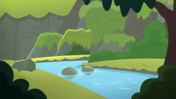 Size: 1280x720   Tagged: safe, screencap, surf and/or turf, background, harmonizing heights, mount aris, no pony, scenic ponyville