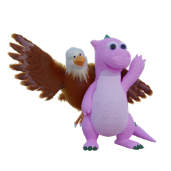 Size: 1080x1080 | Tagged: artist needed, safe, spike (g1), 3d, 3d model, feather, irl, photo, rtx, simple background, transparent background, weston, wings