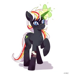 Size: 1151x1167   Tagged: safe, artist:aaa-its-spook, oc, oc only, oc:velvet remedy, pony, unicorn, fallout equestria, bandage, blood, female, magic, mare, solo