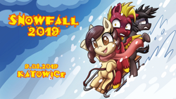 Size: 1024x577 | Tagged: safe, oc, oc only, poland, snow, snowfall ponymeet