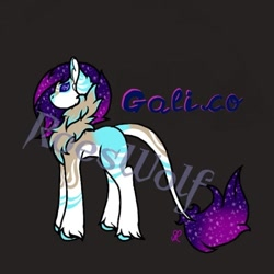 Size: 540x540 | Tagged: safe, artist:roeswolfcreations, oc, oc only, earth pony, pony, base used, chest fluff, dark background, earth pony oc, ethereal mane, leonine tail, solo, starry mane, unshorn fetlocks