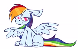Size: 2765x1745 | Tagged: safe, artist:~w0xel~, pegasus, pony, lidded eyes, smiling, solo, spread wings, tired, wings