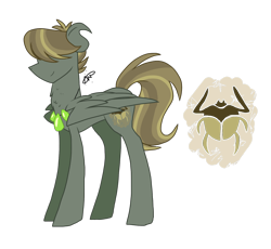 Size: 1600x1472 | Tagged: safe, artist:gallantserver, oc, oc:glowpaz scarab, pegasus, pony, ambiguous gender, hair over eyes, offspring, parent:quibble pants, parent:somnambula, simple background, solo, transparent background