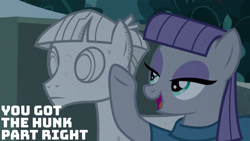 Size: 1280x720 | Tagged: safe, edit, edited screencap, editor:quoterific, screencap, maud pie, mudbriar, earth pony, pony, student counsel, duo, female, male, mare, open mouth, smiling, stallion