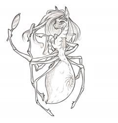 Size: 1800x1868 | Tagged: safe, artist:madhotaru, oc, oc only, monster pony, original species, spiderpony, solo