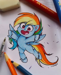 Size: 3072x3745 | Tagged: safe, artist:liaaqila, rainbow dash, pegasus, pony, female, high res, mare, solo