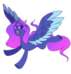 Size: 1280x1320 | Tagged: safe, artist:lynesssan, oc, oc:star night, alicorn, pony, female, mare, simple background, solo, transparent background, two toned wings, wings