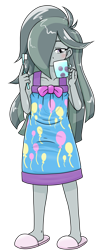 Size: 652x1650 | Tagged: safe, alternate version, artist:batipin, marble pie, equestria girls, equestria girls-ified, hair over one eye, messy hair, simple background, transparent background
